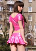 TIFT - Brunette in Pink Latex