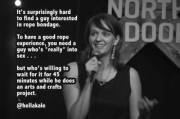 What am I supposed to do, join a macrame club? [xpost /r/standupshots]
