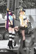 Panty and Stocking. Gotta love Stocking's boots.