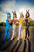 Pokemon Bunny Suits (Stella Chuu, Bindi Smalls, Sperren Cosplay and Vanity Fox)