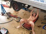 Women make just as good mechanics as men, and look better naked as well.