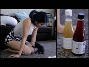 Youtuber Anna Akana has her cats review wine wearing see-through shirt. [Immediate]