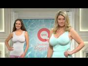 Heavy-titted models on British QVC.